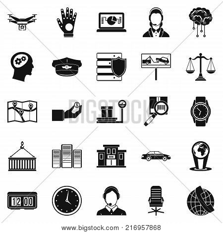 Full time work icons set. Simple set of 25 full time work vector icons for web isolated on white background