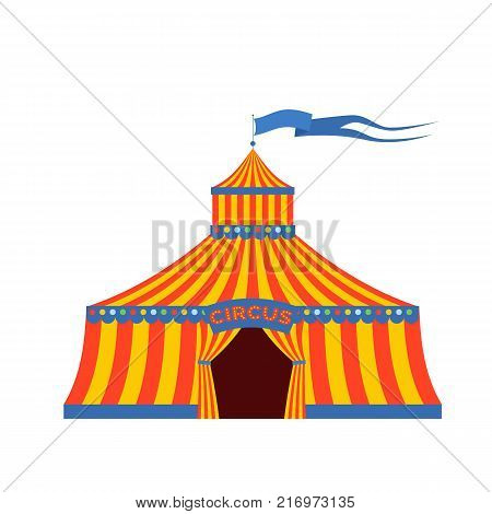 Circus tent, with the inscription