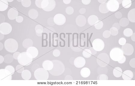 Abstract Light Blur And Bokeh Effect Background. Vector Defocused Sun Shine Or Sparkling Lights And