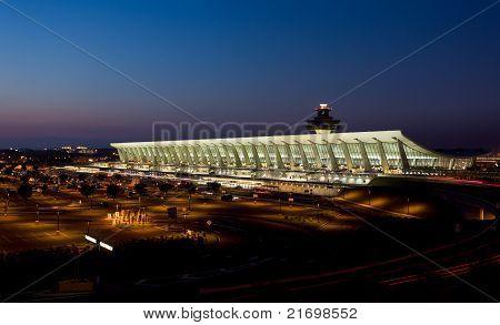 Dulles Airport At Dawn Near Washington Dc
