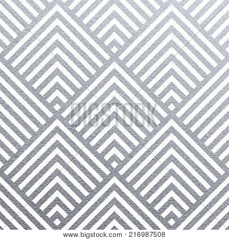 Abstract Geometric Silver Pattern Background For Invitation Card Design Template Of Triangle Modern