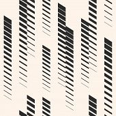 Abstract geometric seamless pattern with vertical fading lines, tracks halftone stripes. Extreme sport style illustration, urban art. Monochrome graphic texture. Creative design. Halftone pattern. Sport pattern. Stripes pattern. Geometric pattern. poster