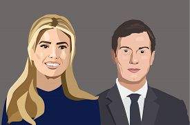 Dec, 2017: Vector portraits of Jared Kushner and Ivanka Trump
