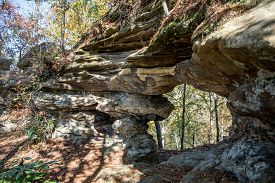 Half Moon Arch in the Red River Gorge Kentucky.