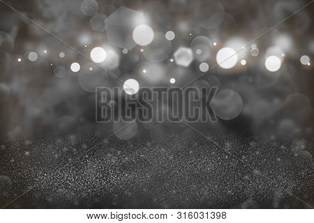 Orange Beautiful Sparkling Abstract Background Glitter Lights Defocused Bokeh - Festal Mockup Textur