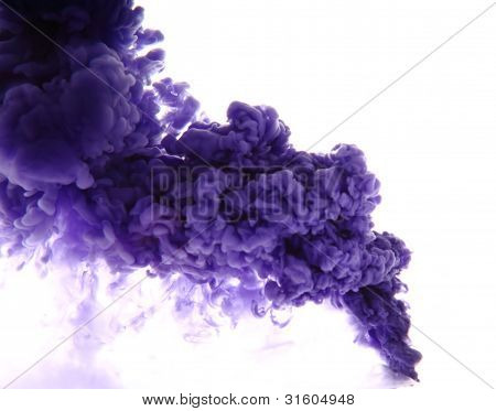 as a blue smoke