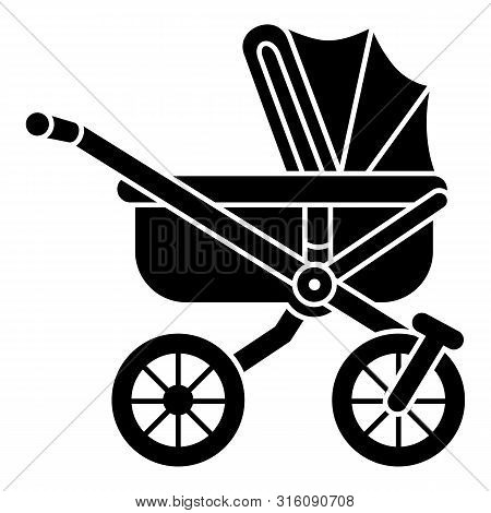 Infant Baby Pram Icon. Simple Illustration Of Infant Baby Pram Vector Icon For Web Design Isolated O