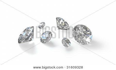 Few Old European Cut Round Diamonds
