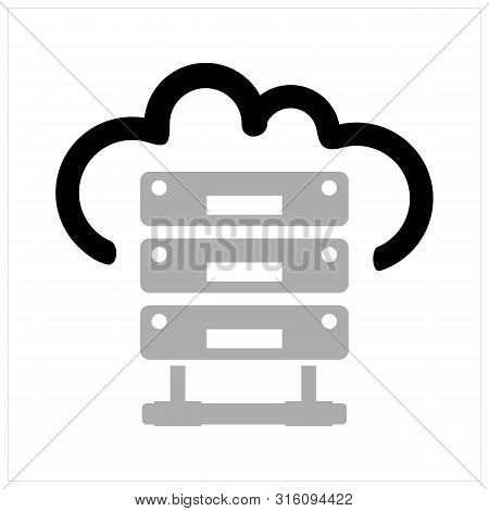 Hosting Icon Vector Black And Gray Colors, Hosting Icon Modern Flat, Hosting Icon Ilustration Eps 10