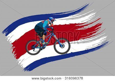 The Cyclist On The Flag Of Thailand