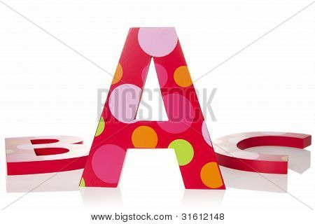 Isolated Objects: Abc Letter Blocks