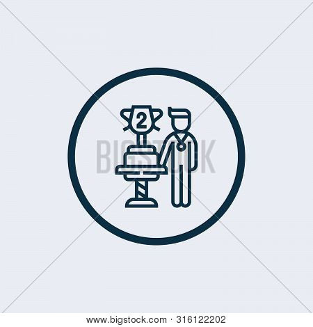 Second Prize Icon Isolated On White Background. Second Prize Icon Simple Sign. Second Prize Icon Tre