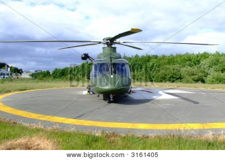 Helicopter Full View Front On