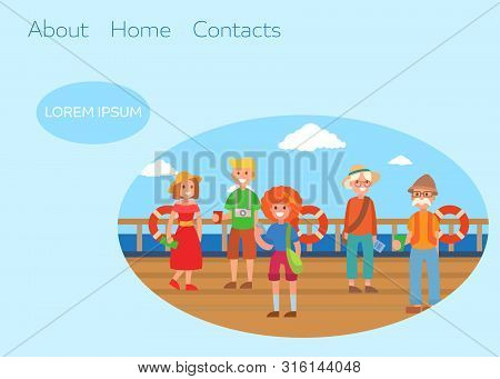Boat Lifesaving Ring And Safety Kits For Tourists Travelling On Water Vector Illustration. Water Lif