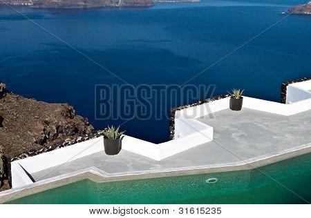 Caldera view from Imerovigli at Santorini, Greece