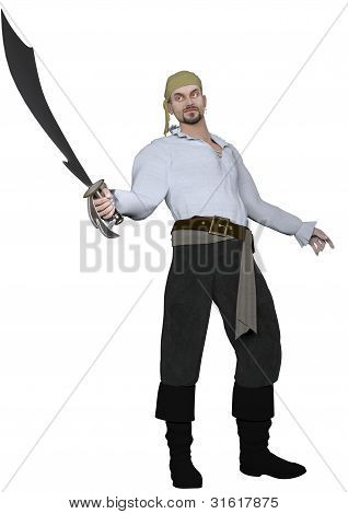 Male Pirate with Scimitar