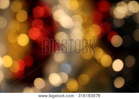 Beautiful Shiny Background With Bokeh And Sequins