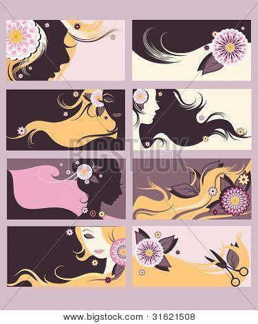 Hairdresser Calling Cards Set