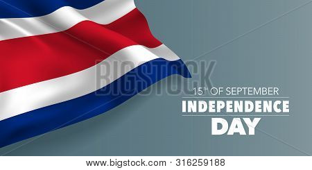 Costa Rica Happy Independence Day Greeting Card, Banner With Template Text Vector Illustration. Cost