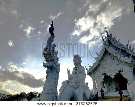 Wat Huay Pla Kang At Chiangrai.wat Huay Pla Kung Is A Quite Recent Temple.