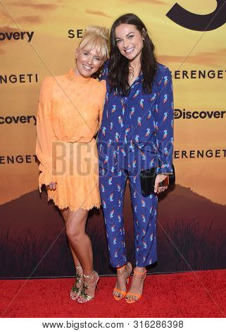 LOS ANGELES - JUL 23:  Nicky Whelan and Christina Ochoa arrives for the 'Serengeti' Special Screening on July 23, 2019 in Beverly Hills, CA