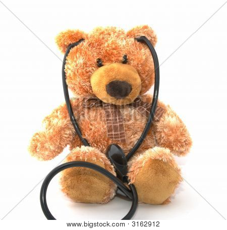 Teddy Bear With A Stethoscope