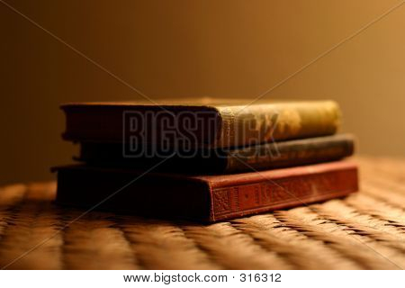 3 Antique Books Stacked P