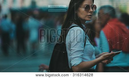 Facial Recognition And Search And Surveillance Of A Person In The Modern Digital Age, The Concept. Y