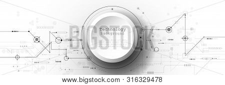 Vector Banner Design Circuit Board. Illustration Abstract Modern Futuristic, Engineering, Technology