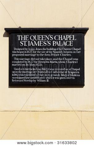 Queen's Chapel In London