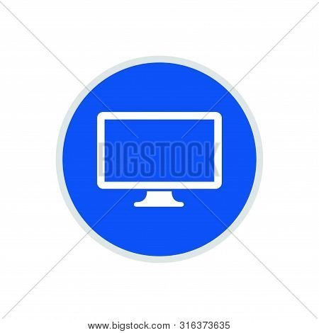 Computer Screen Icon, Computer Screen Icon Circle, Computer Screen Icon Round, Computer Screen Icon
