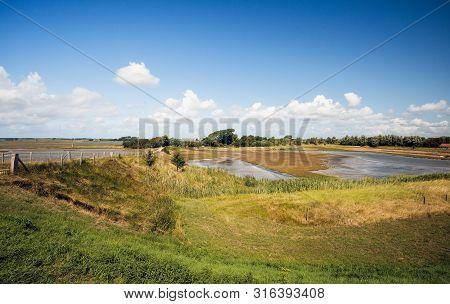 Picturesque Nature Reserves Near The Dutch Village Of Kerkwerve, Schouwen-duiveland, Zeeland, As See