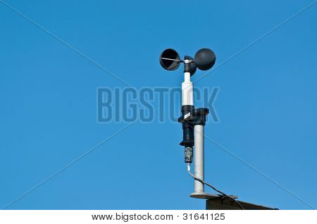 Anemometer At A Weather Station