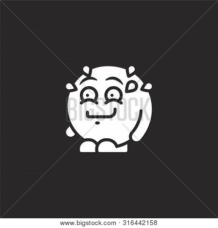 Laughing Icon. Laughing Icon Vector Flat Illustration For Graphic And Web Design Isolated On Black B