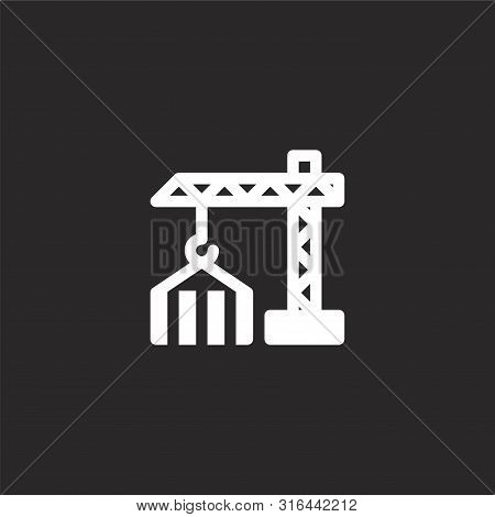 Construction Icon. Construction Icon Vector Flat Illustration For Graphic And Web Design Isolated On