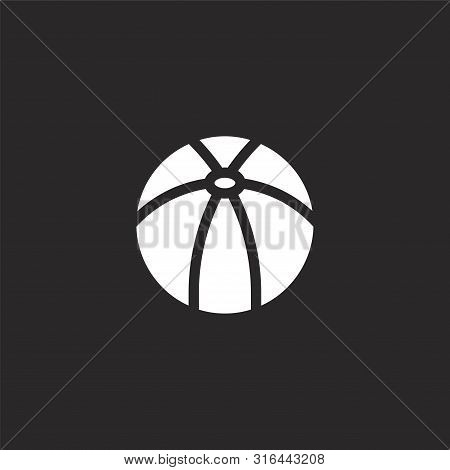Beach Ball Icon. Beach Ball Icon Vector Flat Illustration For Graphic And Web Design Isolated On Bla