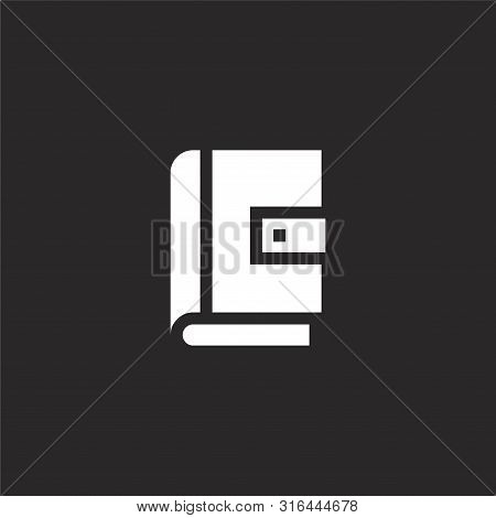 Address Book Icon. Address Book Icon Vector Flat Illustration For Graphic And Web Design Isolated On