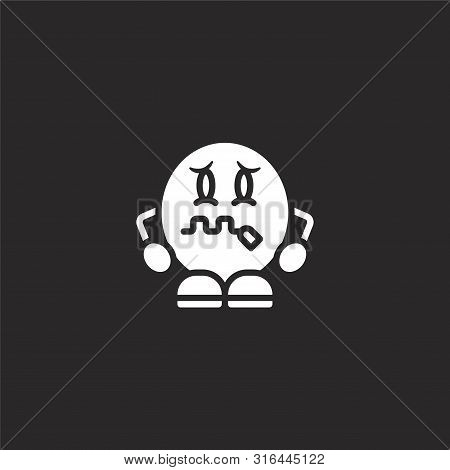 Zipped Icon. Zipped Icon Vector Flat Illustration For Graphic And Web Design Isolated On Black Backg