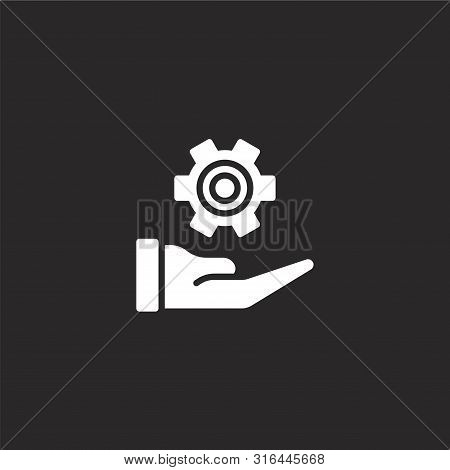 Manufacturing Icon. Manufacturing Icon Vector Flat Illustration For Graphic And Web Design Isolated