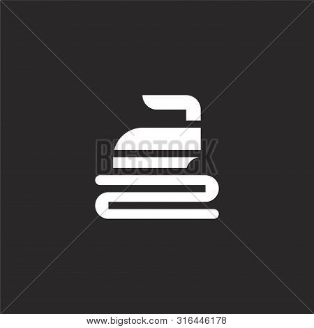 Ironing Icon. Ironing Icon Vector Flat Illustration For Graphic And Web Design Isolated On Black Bac