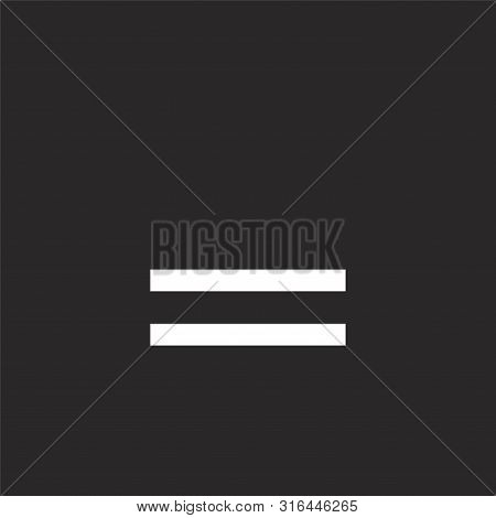 Equal Icon. Equal Icon Vector Flat Illustration For Graphic And Web Design Isolated On Black Backgro