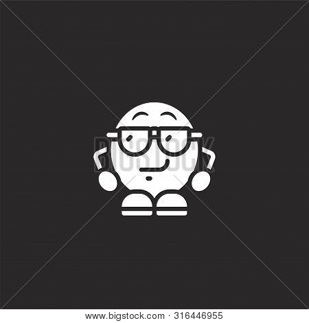Cool Icon. Cool Icon Vector Flat Illustration For Graphic And Web Design Isolated On Black Backgroun