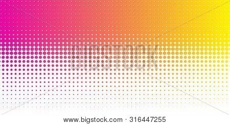 Halftone Colorful Gradient Background For Design Decoration. Abstract Business Bright Grunge Backgro