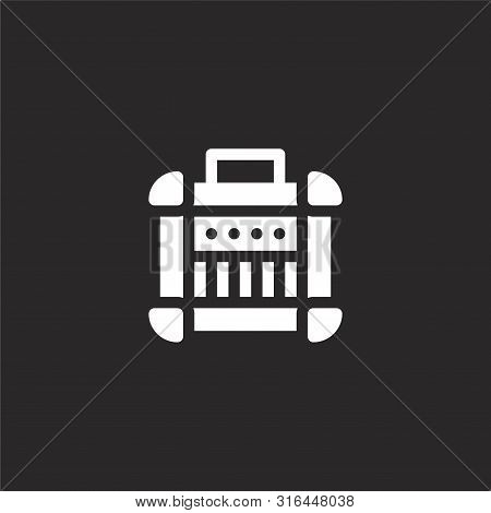 Amplifier Icon. Amplifier Icon Vector Flat Illustration For Graphic And Web Design Isolated On Black