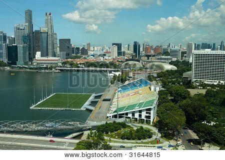 MARINA BAY, SINGAPORE - 01 APRIL 2012 -