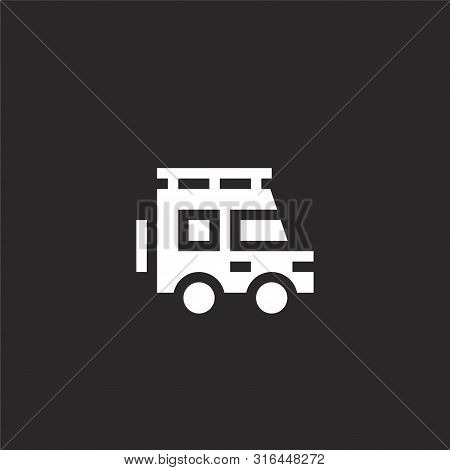 Car Icon. Car Icon Vector Flat Illustration For Graphic And Web Design Isolated On Black Background