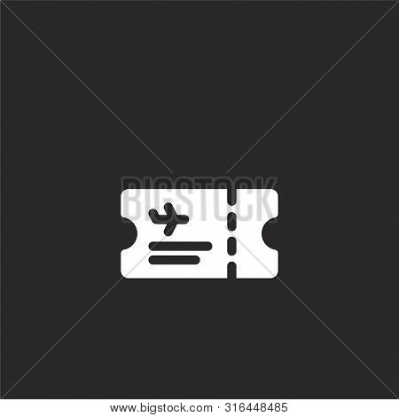 Plane Ticket Icon. Plane Ticket Icon Vector Flat Illustration For Graphic And Web Design Isolated On