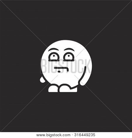 Frustrated Icon. Frustrated Icon Vector Flat Illustration For Graphic And Web Design Isolated On Bla