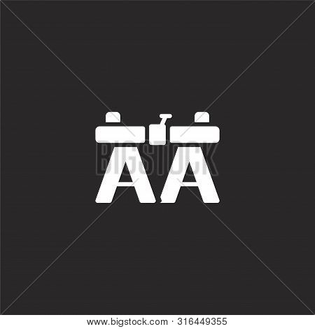 Work Bench Icon. Work Bench Icon Vector Flat Illustration For Graphic And Web Design Isolated On Bla