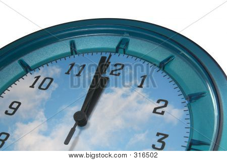 Wall Clock With Clouds